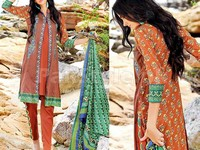 MTF Embroidered Lawn Dress D06-B in Pakistan