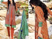 MTF Embroidered Lawn Dress D06-B in Pakistan