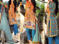 MTF Embroidered Lawn Dress D07-A in Pakistan