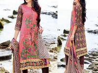 MTF Embroidered Lawn Dress D07-B in Pakistan