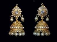 Pearl Golden Earrings in Pakistan