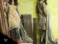 Libas Printed Lawn Suit ST-2A in Pakistan