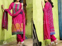 Libas Printed Lawn Suit ST-8A in Pakistan