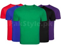 Pack of 5 Plain T-Shirts P3 Price in Pakistan