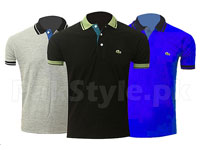 Pack of 3 Lacoste Polo Shirts P2 Price in Pakistan