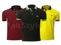 Pack of 3 Lacoste Polo Shirts P3 Price in Pakistan