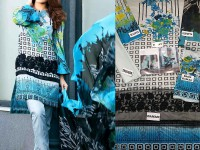 Embroidered Lawn Suit with Lawn Net Dupatta in Pakistan