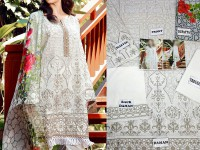 Embroidered Swiss Lawn Dress with Silk Dupatta in Pakistan
