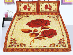 Panel Design Egyptian Cotton Bed Sheet in Pakistan
