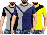 Pack of 3 Round Neck Designer T-shirts in Pakistan