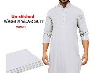 Wash N Wear Un-Stitched Men's Suit  WW-01 in Pakistan