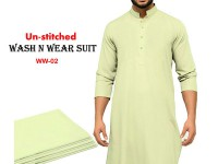 Wash N Wear Un-Stitched Men's Suit  WW-02 in Pakistan