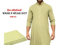 Wash N Wear Un-Stitched Men's Suit  WW-03 in Pakistan