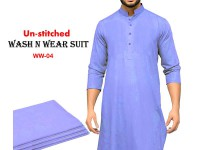 Wash N Wear Un-Stitched Men's Suit  WW-04 in Pakistan