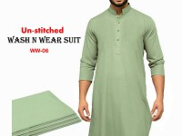 Wash N Wear Un-Stitched Men's Suit  WW-06 in Pakistan