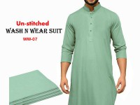 Wash N Wear Un-Stitched Men's Suit  WW-07 in Pakistan