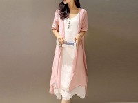 Ladies Peach Shrug with Inner in Pakistan