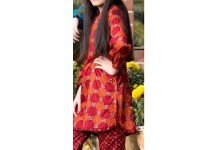 2 Piece Star Printed Lawn Suit 901-C in Pakistan
