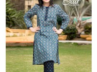 2 Piece Star Printed Lawn Suit 903-C in Pakistan