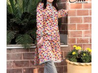 2 Piece Star Printed Lawn Suit 905-C in Pakistan