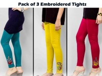 Pack of 3 Embroidered Tights in Pakistan