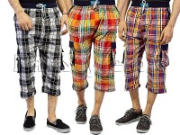 Pack of 3 Checkered Cargo Shorts in Pakistan