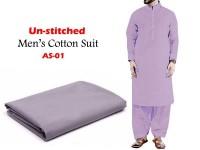 Al-Saudia Un-Stitched Men's Cotton Suit - AS-01 in Pakistan