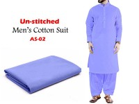 Al-Saudia Un-Stitched Men's Cotton Suit - AS-02 in Pakistan