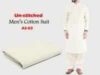 Al-Saudia Un-Stitched Men's Cotton Suit - AS-03 in Pakistan