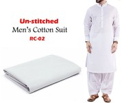 Rashid Un-Stitched Men's Cotton Suit - RC-02 in Pakistan