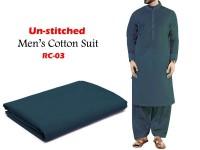 Rashid Un-Stitched Men's Cotton Suit - RC-03 in Pakistan