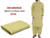 Rashid Un-Stitched Men's Cotton Suit - RC-04 in Pakistan