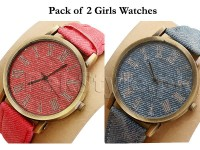 Pack of 2 Girls Jeans Watches in Pakistan