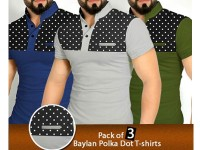 Pack of 3 Polka Dot T-Shirts Price in Pakistan