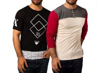 Pack of 2 Printed T-Shirts Price in Pakistan