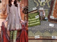 Embroidered Net Dress with Silk Dupatta in Pakistan