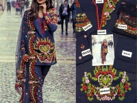 Embroidered Lawn Suit with Net Dupatta in Pakistan