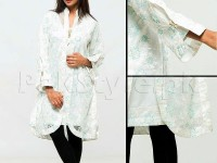 Ladies Party Wear Top with Inner - White in Pakistan