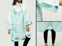 Ladies Party Wear Top with Inner - Ferozi in Pakistan