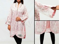 Ladies Party Wear Top with Inner - Pink in Pakistan