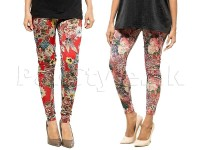 Pack of 2 Digital Print Tights in Pakistan
