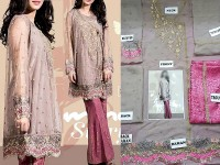Elegant Embroidered Chiffon Dress in Pakistan