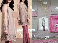 Elegant Embroidered Chiffon Dress in Pakistan