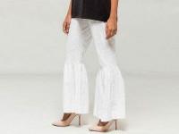 Self Print Gharara Style Cotton Pant in Pakistan