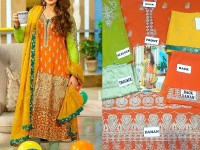 Embroidered Chiffon Mehndi Dress in Pakistan