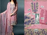 Embroidered Lawn Suit with Chiffon Dupatta in Pakistan