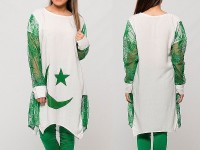 Independence Day Kurti with Tight - White in Pakistan