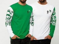 Pack of 2 Independence Day Full Sleeves T-Shirts Price in Pakistan