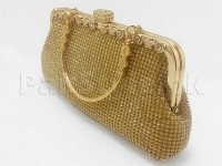 Golden Diamante Bridal Clutch in Pakistan