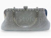 Silver Diamante Bridal Clutch in Pakistan